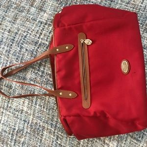 Coach red baby bag
